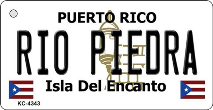 Rio Pieora Puerto Rico Flag Novelty Key Chain