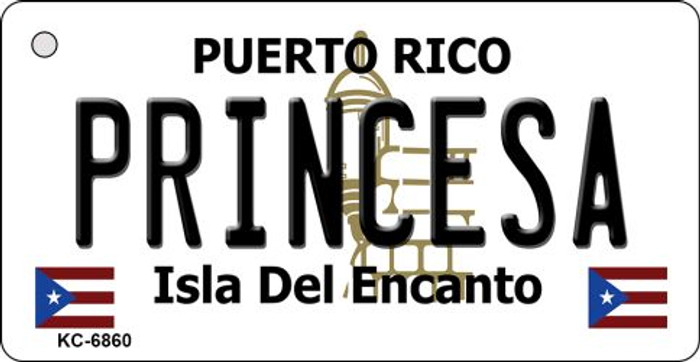 Princesa Puerto Rico Flag Novelty Key Chain