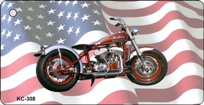 Indian Motorcycle American Flag Novelty Key Chain