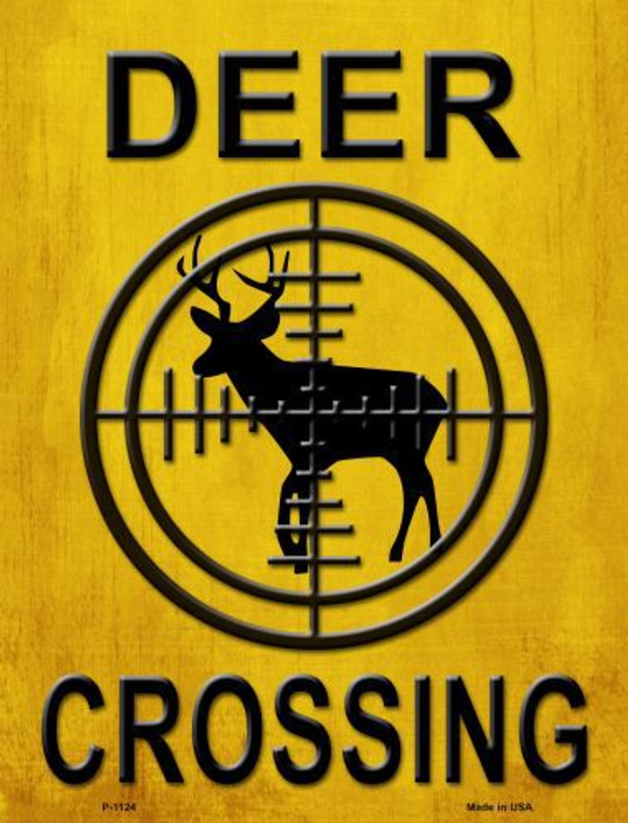 Deer Crossing Metal Novelty Parking Sign
