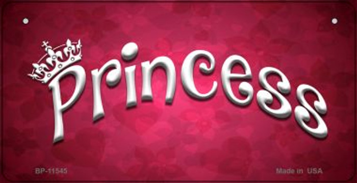 Princess Novelty Metal Bicycle License Plate