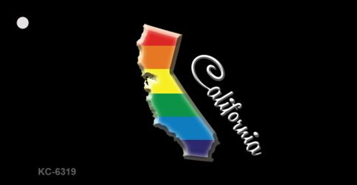 California Rainbow State Novelty Key Chain