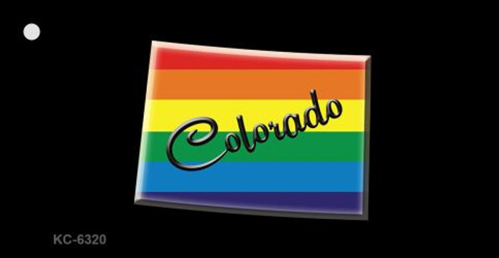 Colorado Rainbow State Novelty Key Chain
