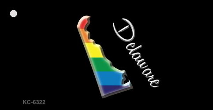 Delaware Rainbow State Novelty Key Chain