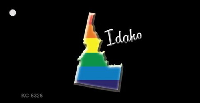 Idaho Rainbow State Novelty Key Chain