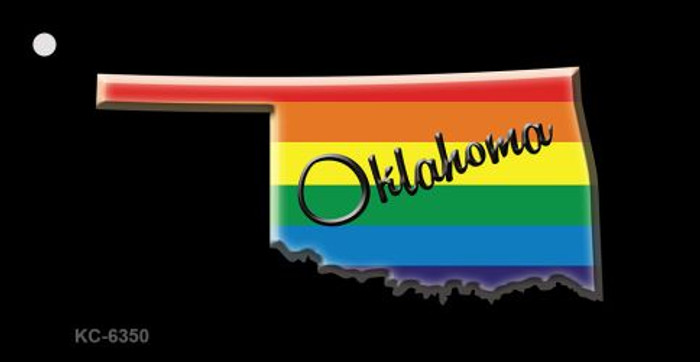 Oklahoma Rainbow State Novelty Key Chain