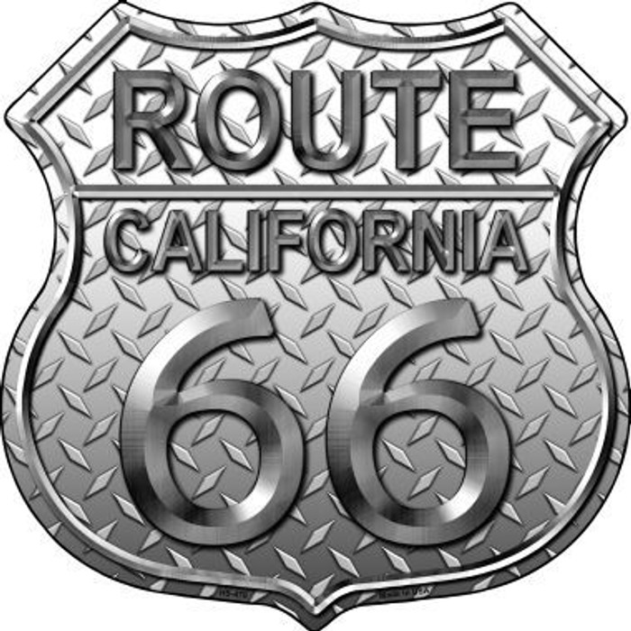 Route 66 Diamond California Metal Novelty Highway Shield