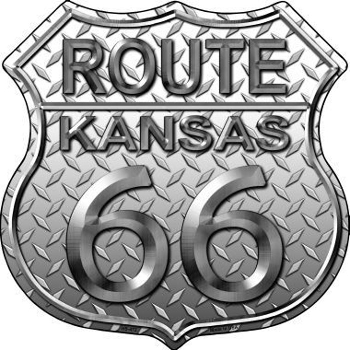 Route 66 Diamond Kansas Metal Novelty Highway Shield