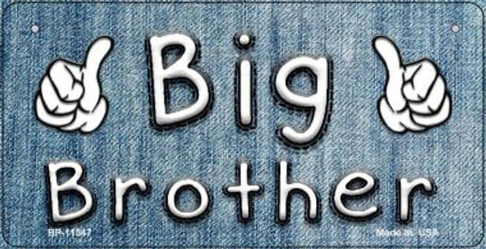 Big Brother Novelty Metal Bicycle License Plate BP-11547