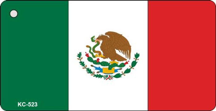 Mexico Crossed Flag Novelty Key Chain