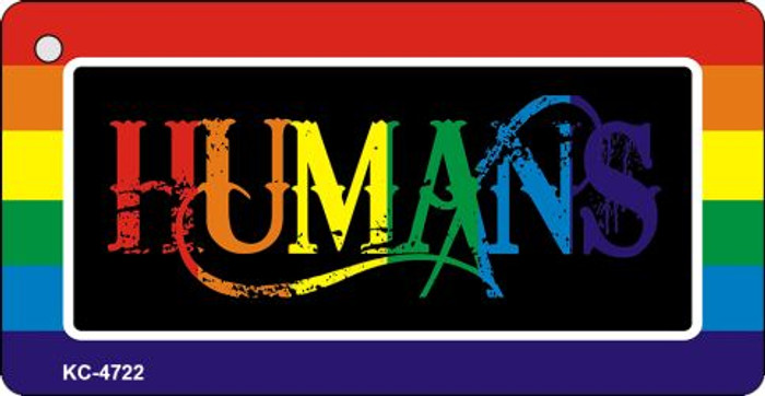 Humans Rainbow Designs Novelty Key Chain