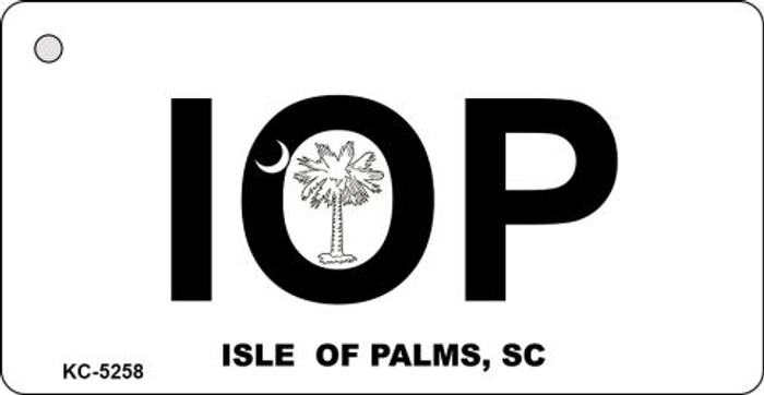 Isle Of Palms White Novelty Key Chain
