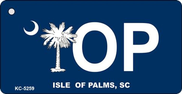 Isle Of Palms Blue Novelty Key Chain