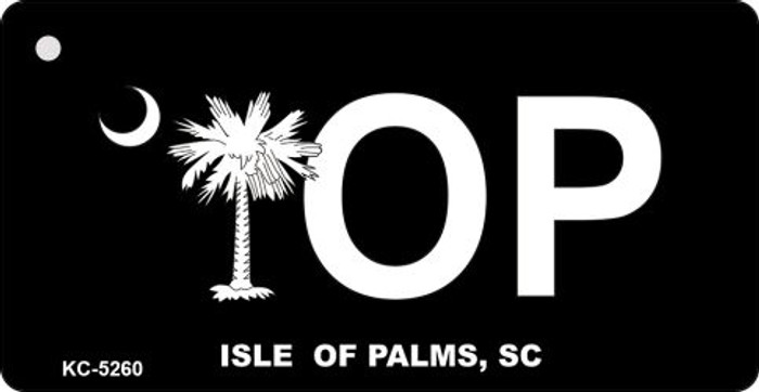 Isle Of Palms Black Novelty Key Chain