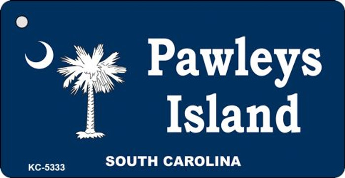Pawleys Island Blue Novelty Key Chain