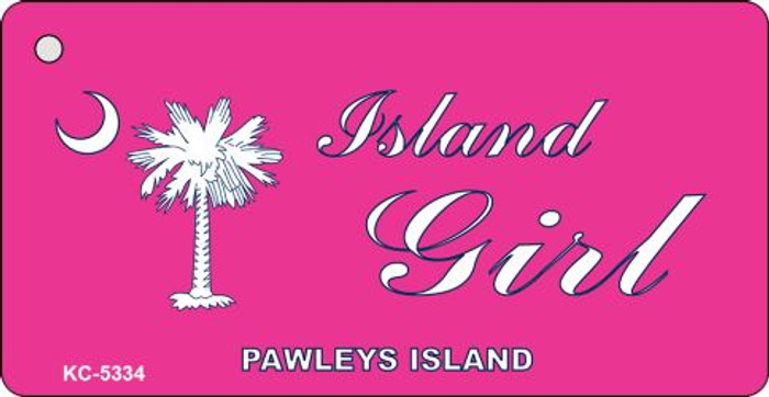 Island Girl Pink Novelty Key Chain