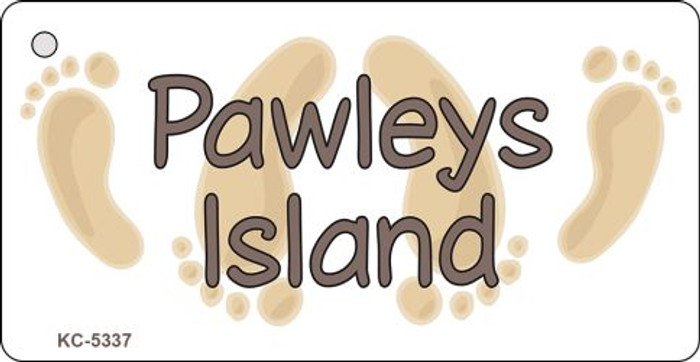 Pawleys Island Footprints Novelty Key Chain