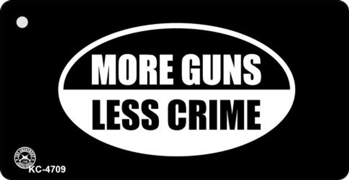 More Guns Less Crime Novelty Key Chain