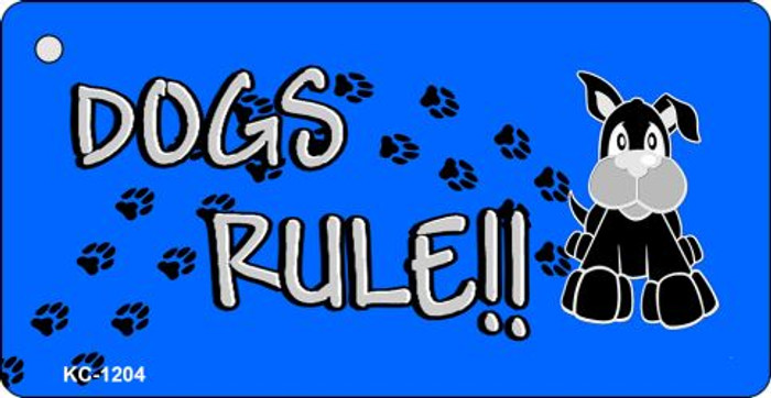 Dogs Rule Novelty Metal Key Chain KC-1204