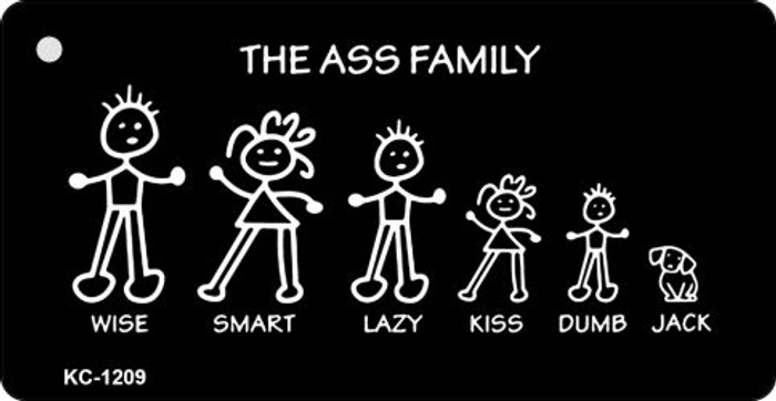 Ass Family Novelty Key Chain