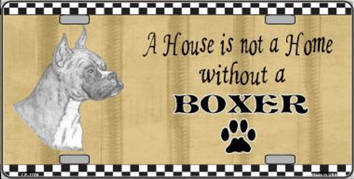 Pencil Sketch Boxer Metal Novelty License Plate