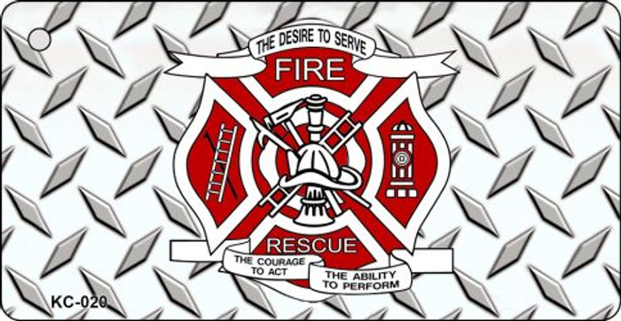 Fire Rescue Diamond Novelty Key Chain