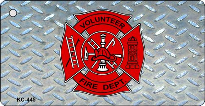 Volunteer Fire Diamond Novelty Key Chain