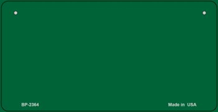Green Blank Novelty Metal Bicycle License Plate