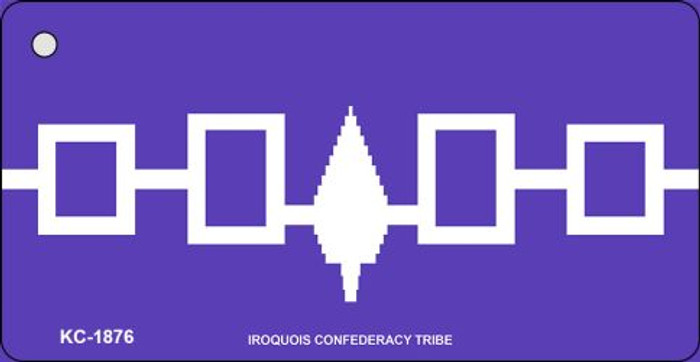 Iroquois Confederacy Tribe Flag Novelty Key Chain
