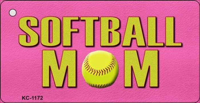 Softball Mom Novelty Key Chain
