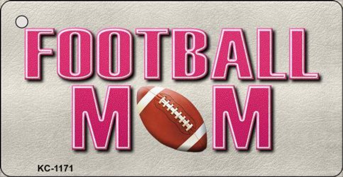 Football Mom Novelty Key Chain
