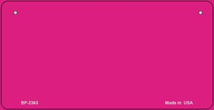 Pink Blank Novelty Metal Bicycle License Plate