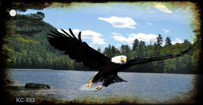 Eagle Over Water Novelty Key Chain
