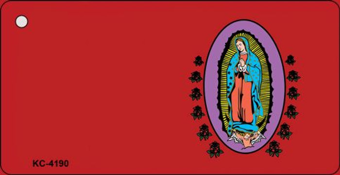 Virgin Mary Red OffSet Novelty Key Chain