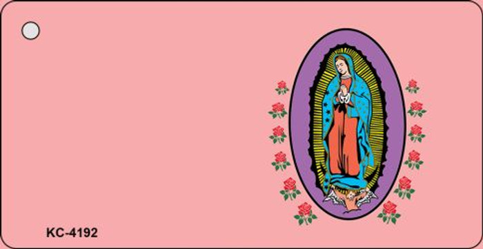 Virgin Mary Pink OffSet Novelty Key Chain