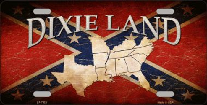 Dixie Land Novelty Metal License Plate