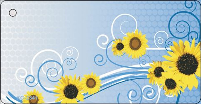 Sun Flowers Novelty Key Chain