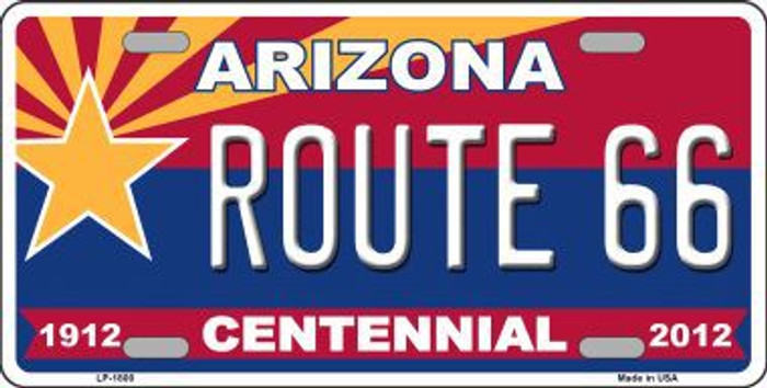Arizona Centennial Route 66 Metal Novelty License Plate