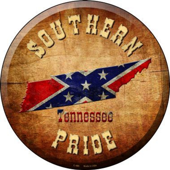 Southern Pride Tennessee Novelty Metal Circular Sign