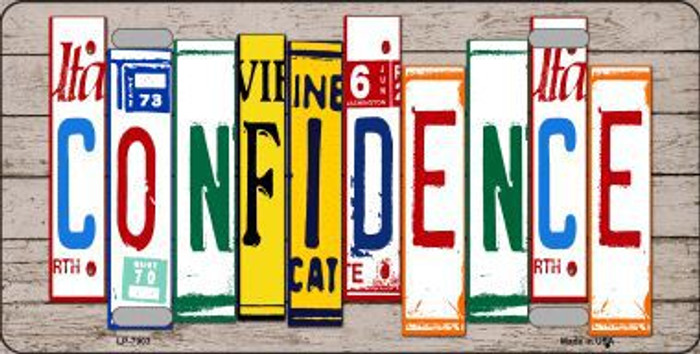 Confidence Wood License Plate Art Novelty Metal License Plate