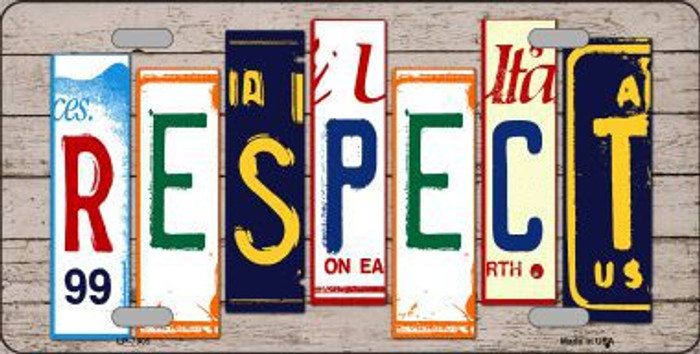 Respect Wood License Plate Art Novelty Metal License Plate