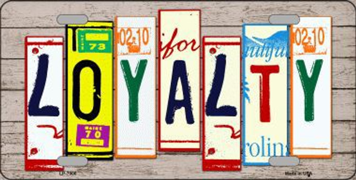 Loyalty Wood License Plate Art Novelty Metal License Plate