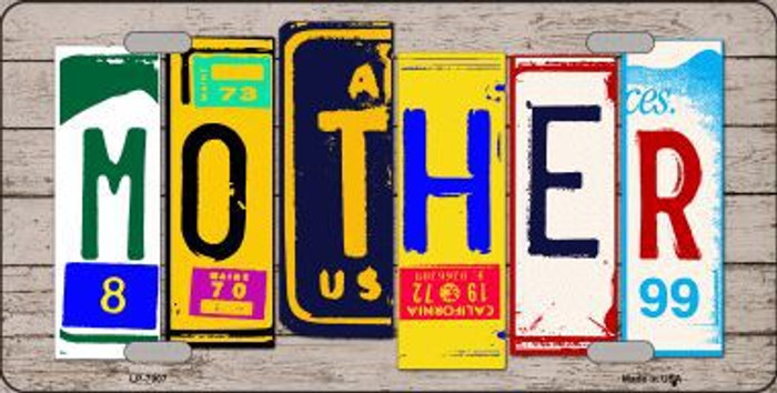Mother Wood License Plate Art Novelty Metal License Plate