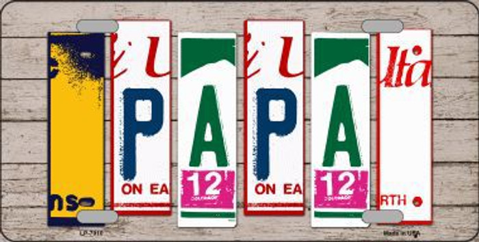 Papa Wood License Plate Art Novelty Metal License Plate