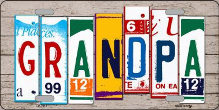 Grandpa Wood License Plate Art Novelty Metal License Plate