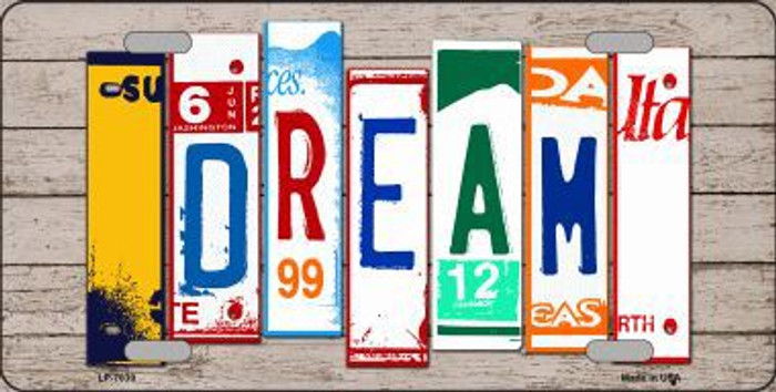 Dream Wood License Plate Art Novelty Metal License Plate