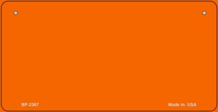 Orange Blank Novelty Metal Bicycle License Plate