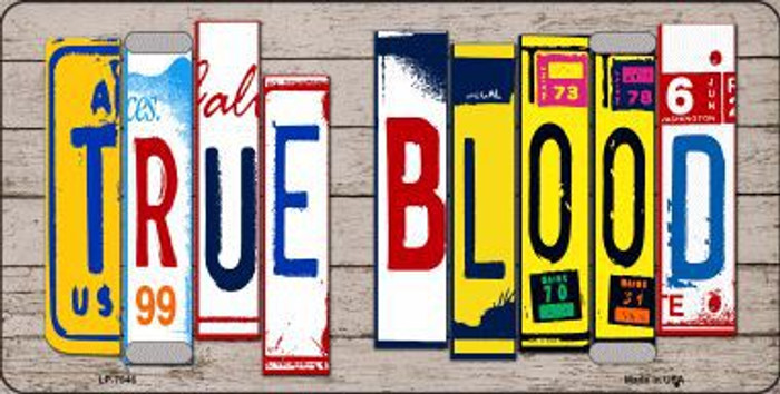True Blood Wood License Plate Art Novelty Metal License Plate