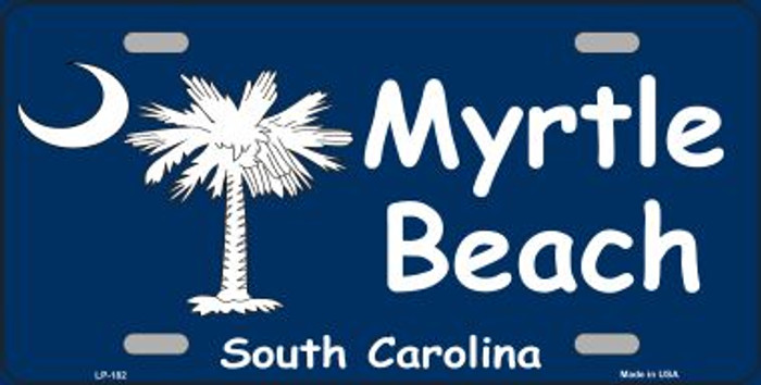 Myrtle Beach Metal Novelty License Plate