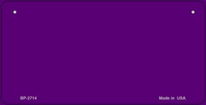 Purple Blank Novelty Metal Bicycle License Plate